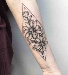 arm flower tattoo design