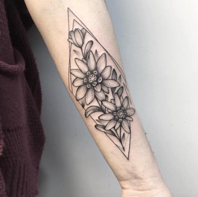 arm flower tattoo design