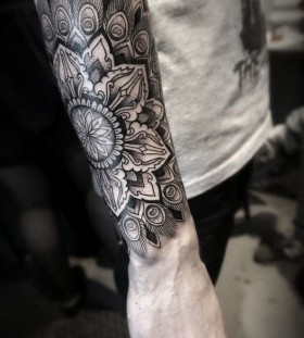 arm sleeve mandala tattoo