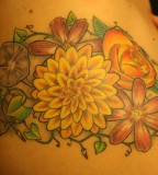 Aster Flower Tattoos Design for Women