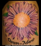 Aster Flower Tattoo Ideas