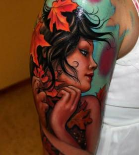 autumn-girl-tattoo