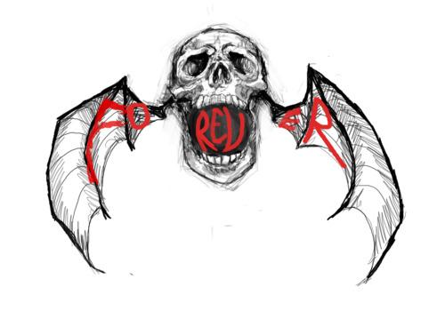 """Avenged Sevenfold Forever """"Winged Skull"""" Tattoo"""
