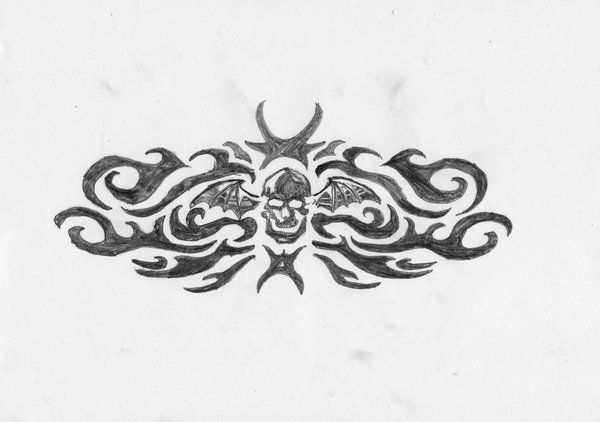 "Avenged Sevenfold ""Winged Tattoo"" Tribal Tattoo by Cjmarshall"