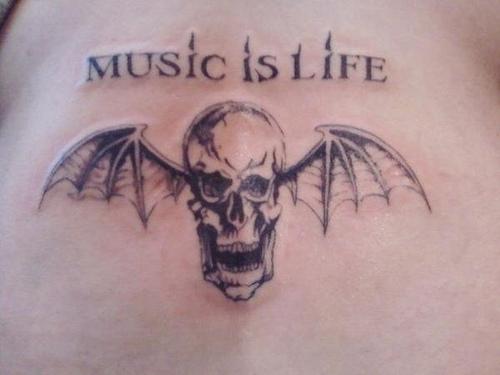 "Avenged Sevenfold ""Winged Skull"" Tattoo"