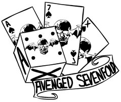 """Avenged Sevenfold """"Winged Skull"""" Tattoo on Cards and Dice"""