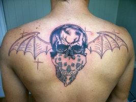 Avenged Sevenfold Back Tattoo (Deviantart)