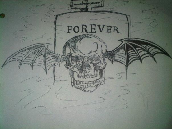 "Avenged Sevenfold ""Winged Skull"" Forever Tattoo by Countess-rhapsodos67"