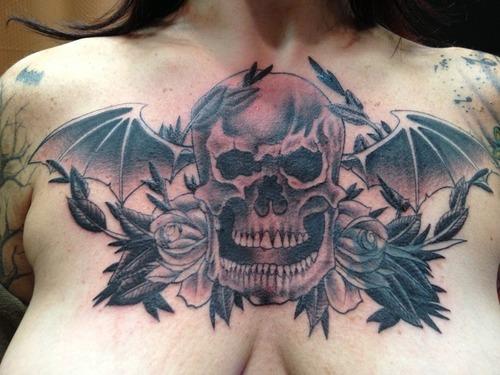 "Sid Lopes ""Winged Skull"" Avenged Sevenfold Tattoo"