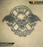 Avenged Sevenfold Thing Winged-Skull Tattoo Photo