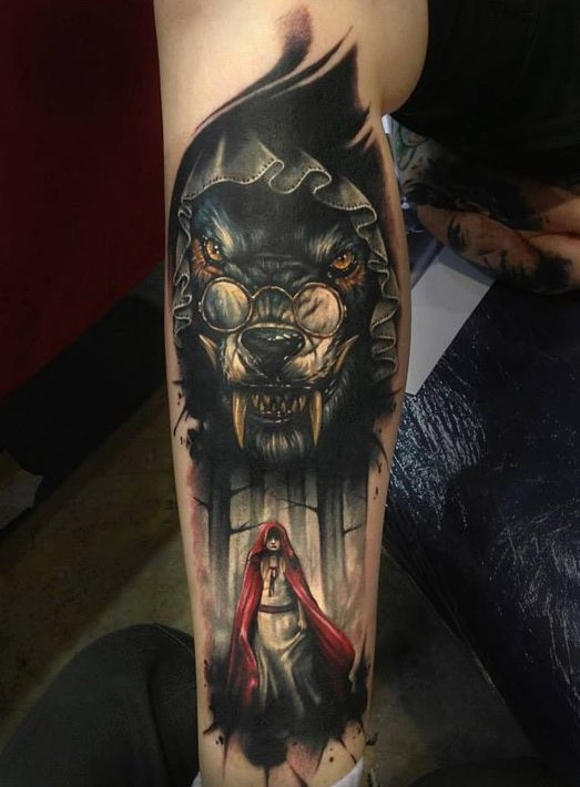 awesome-bad-wolf-tattoo