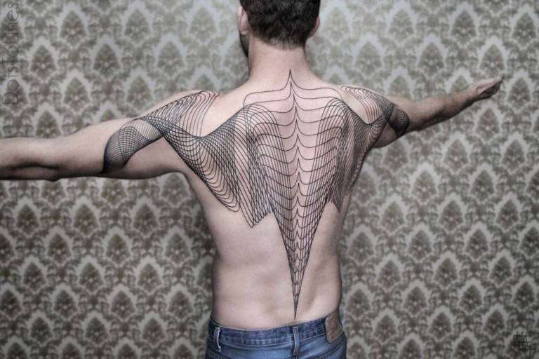 back geometric tattoos for men