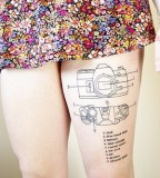 Camera Tattoos On Leg For Girl Picture
