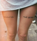 Simple but Sexy Tattoo On Leg For Girl