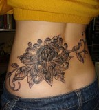Lower Back Beautiful Tattoo Design for Girls