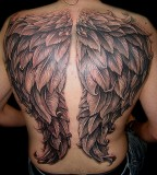 Angel Wings Tattoos Designs On Back For Men