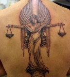 Angel Back Tattoo Design For Men
