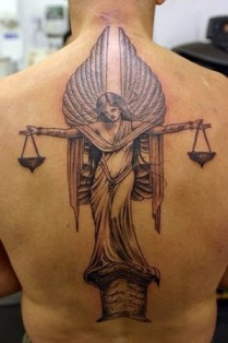 Angel Back Tattoo Design For Men