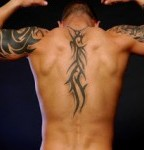 Tribal Vertebral Column Tattoo Designs For Men