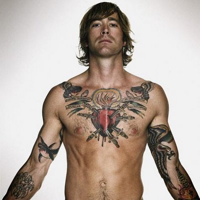 Awesome Heart Chest Tattoos For Men