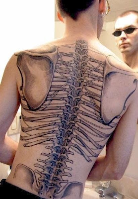 3D Rib Tattoo Picture For Men