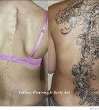 Very Pretty Tattoo Covers Horrible Full Length Back Scar