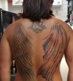 Cool Wings Tattoo On Back For Men