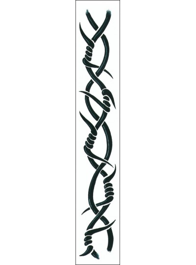 Custom Barbed Wire Sketch for Armband Tattoo Design