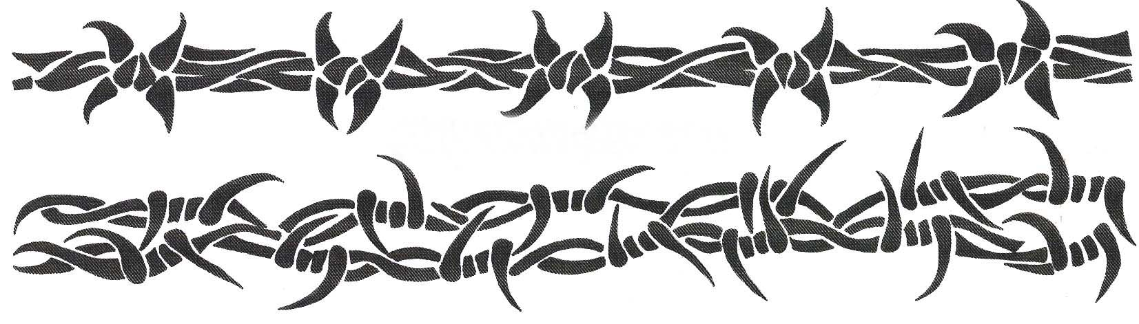 Barbed Wire Armband Temporary Tattoo Design Sample