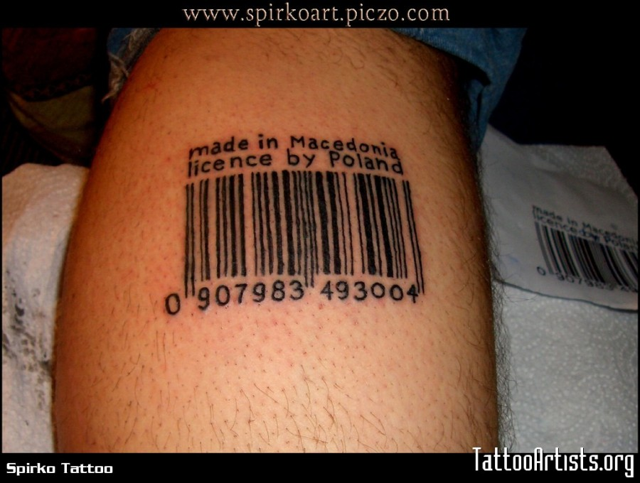 Cool Barcode Tattoo Meaning