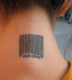 Barcode Tattoo Meaning Neck for Girl