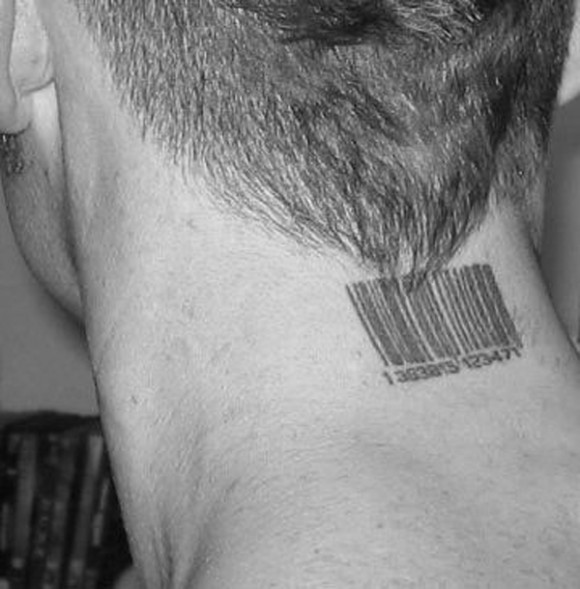 Neck Barcode Tattoo Meaning for Men