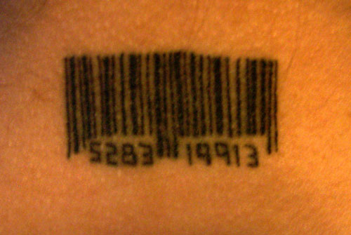 Independent Barcode Tattoos with Meaning for Sisters