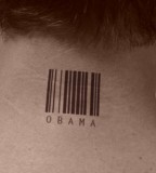 Sexy Barcode Tattoo on The Neck for Men