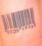 Hand Tattoo Barcode Ideas