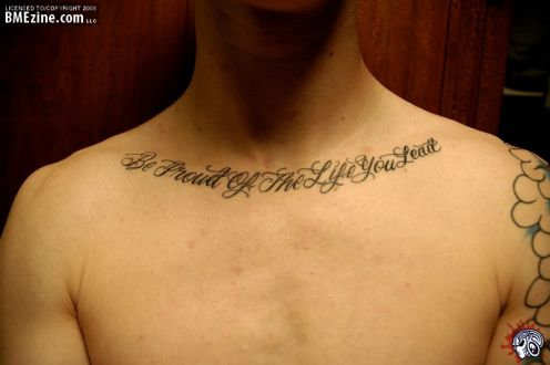 Tattoo Ideas Quotes On Life Be Proud