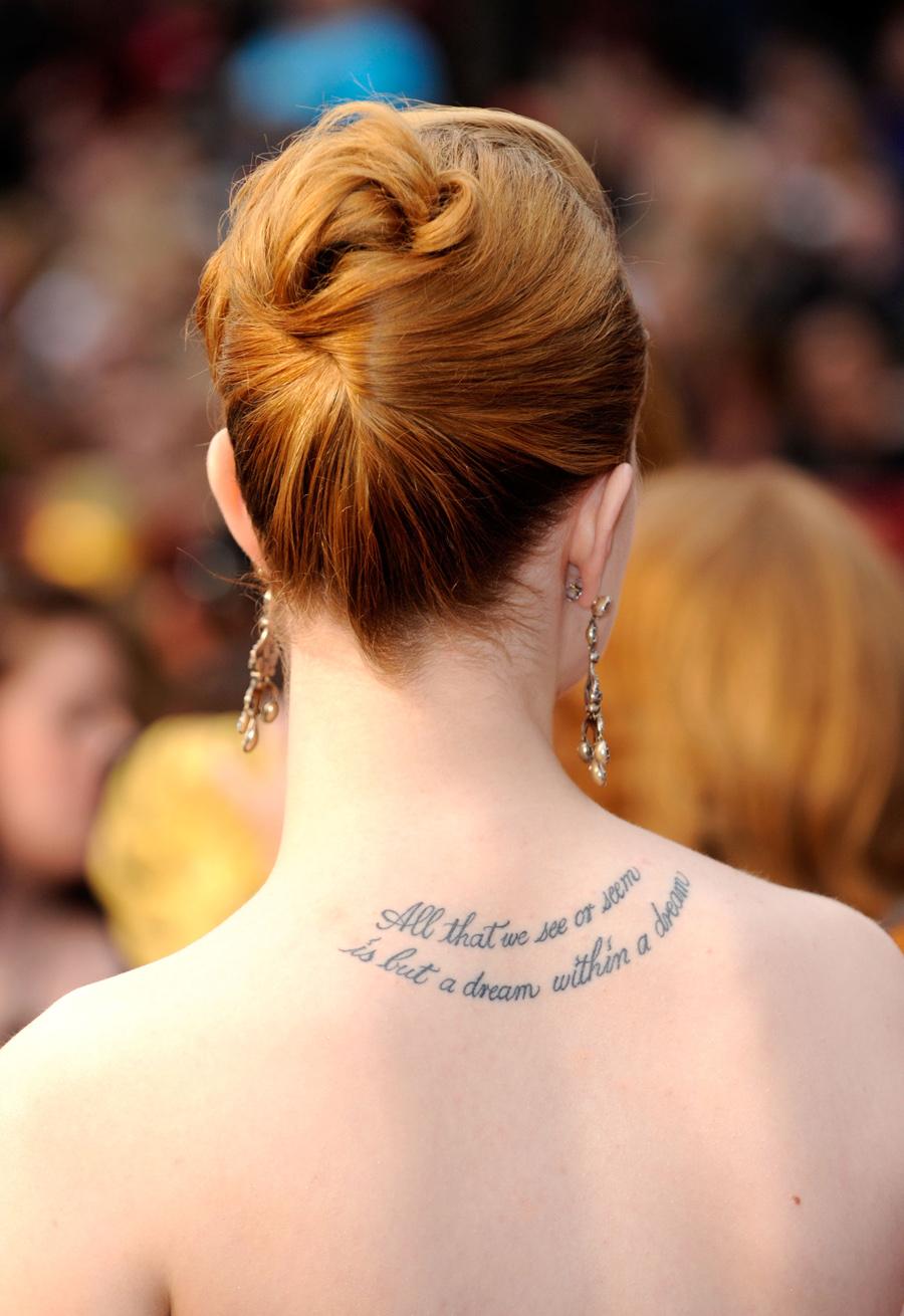 Tattoo Art Body Evan Rachel Wood Tattoos