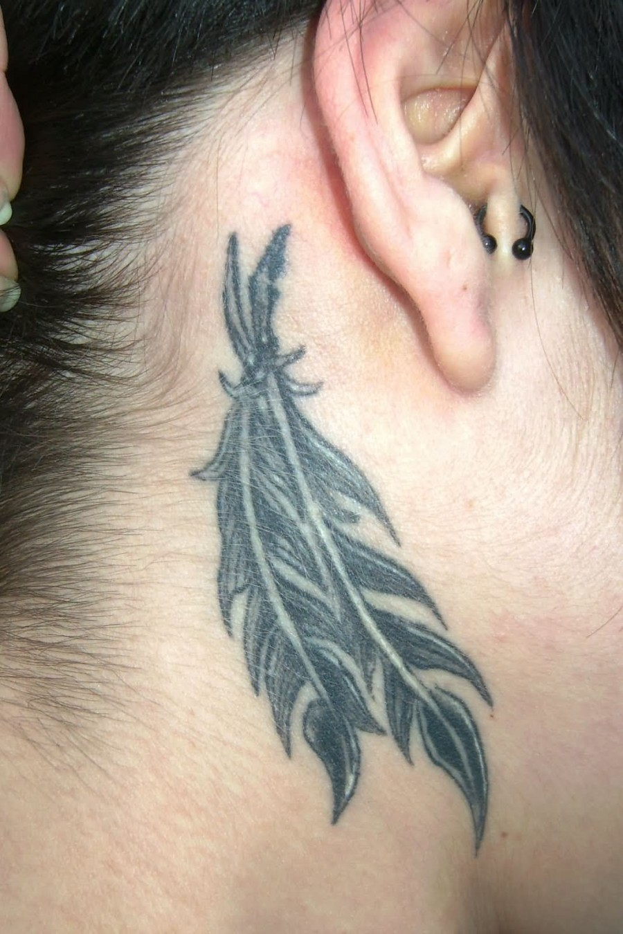 Taylor Ear Black Feather For Women