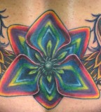 Colorful Groovy Cover Up Tattoos
