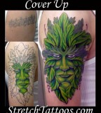 Tattoos Coverup Tattoos Green Man Cover Up