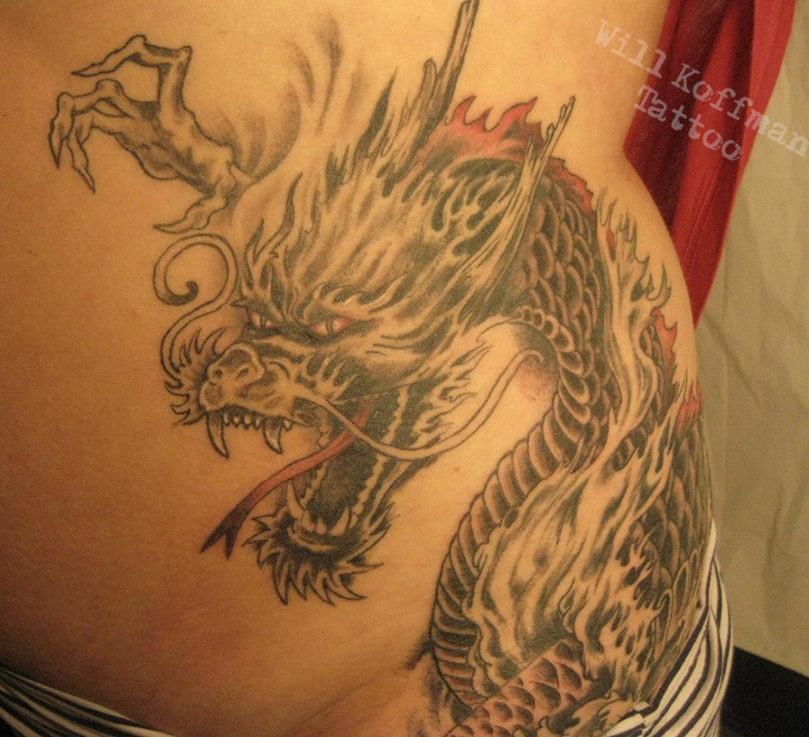 Special Dragon Tattoo By Will Koffman