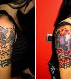 Winged Heart With Crossbones Cover Up Tattoo Ink Art Tattoos