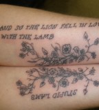 Amazing Love Qoute Tattos on Hands