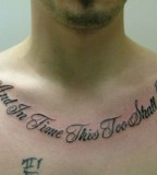 Impressive Short Quote Tattoos for Chest