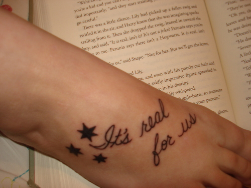Simple  Harry Potter Quote Tattoos
