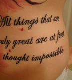 Good Tattoo Quote Design for Women