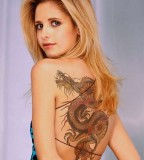 Beautiful Dragon Bikini Tattoo Ideas for Women
