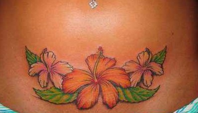 Gorgeous Flower Bikini Tattoos Designs for Women