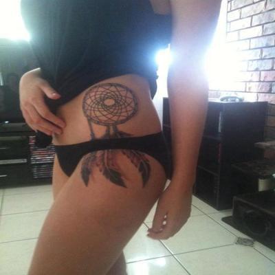 Dream Catcher Bikini Tattoos Design for Women