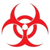 Red Biohazard Symbol Tattoo Inspiration Picture